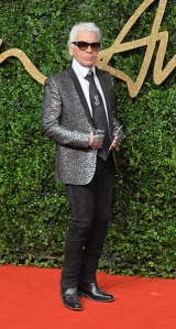 LONDON, ENGLAND - NOVEMBER 23: Karl Lagerfeld attends the British Fashion Awards 2015 at London Coliseum on November 23, 2015 in London, England. (Photo by Anthony Harvey/Getty Images)