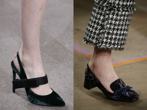 Resultado de imagem para sapatos de veludo inverno 2017