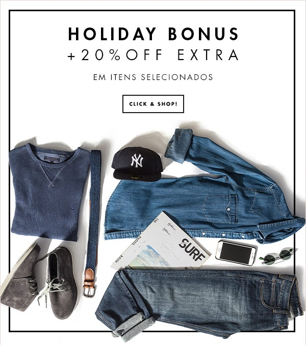 Holiday Bonus 20%OFF Extra Men